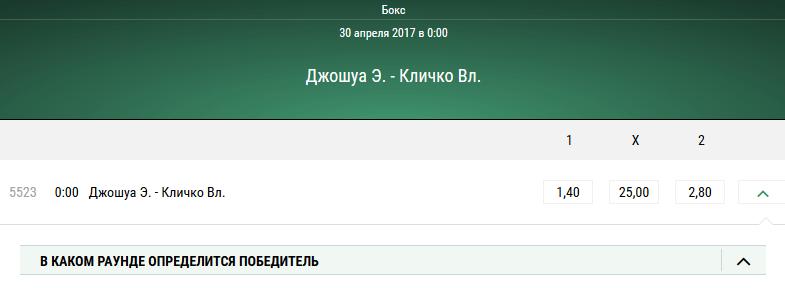 Владимир Кличко — Энтони Джошуа. Прогноз на боксёрский поединок в тяжёлой весовой категории