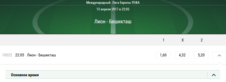 Лион – Бешикташ. Прогноз матча Лиги Европы