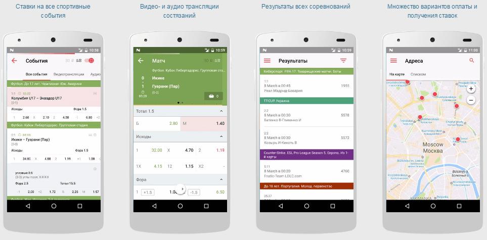 скачать приложение фонбет на андроид старая версия