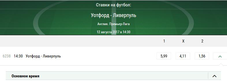 Уотфорд - Ливерпуль. Прогноз матча АПЛ