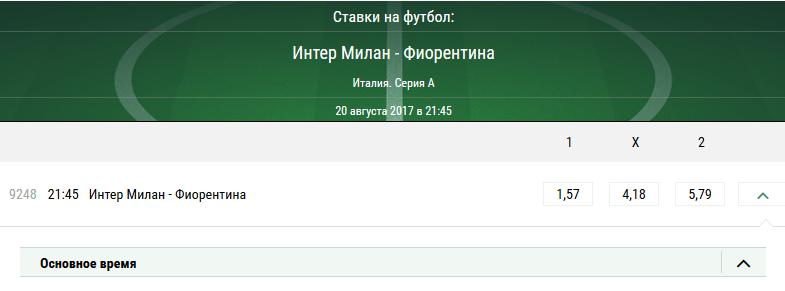 Интер - Фиорентина. Прогноз матча Серии А