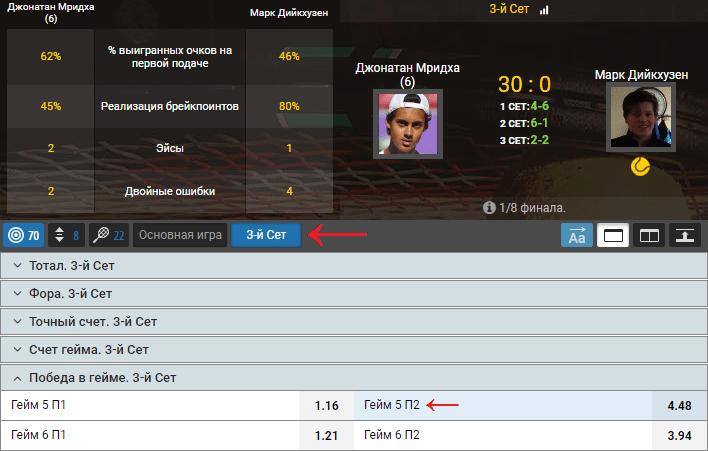 Стратегия Щукина на теннис