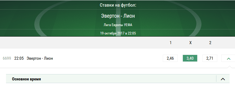 Эвертон - Лион.  Прогноз матча Лиги Европы