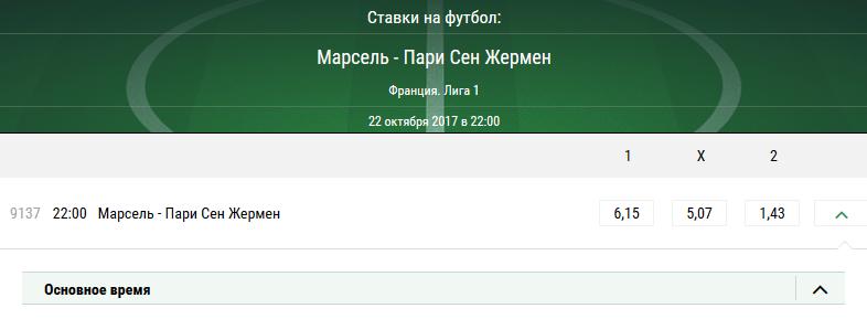 Марсель – ПСЖ. Прогноз матча чемпионата Франции