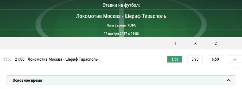 Локомотив - Шериф. Прогноз матча Лиги Европы