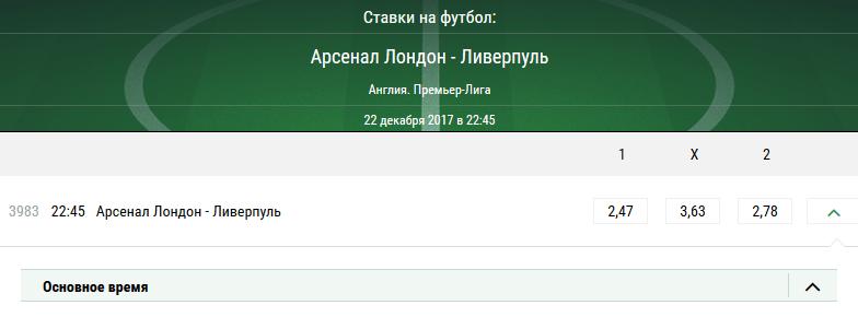 Арсенал - Ливерпуль. Прогноз матча АПЛ