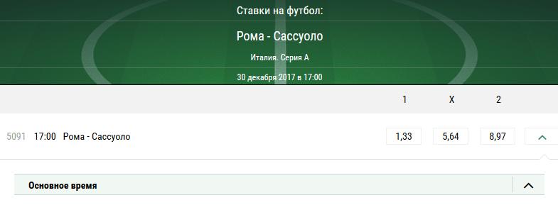 Рома - Сассуоло. Прогноз матча Серии А