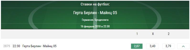 Герта - Майнц 05. Прогноз матча чемпионата Германии