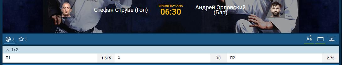 Прогноз на бой Стефан Струве – Андрей Орловский