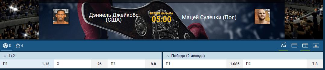 Прогноз на бой Дэниел Джейкобс – Мацей Сулецки