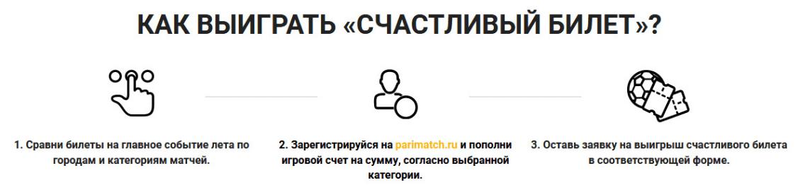 Акция «Счастливый билет» от БК Пари-Матч