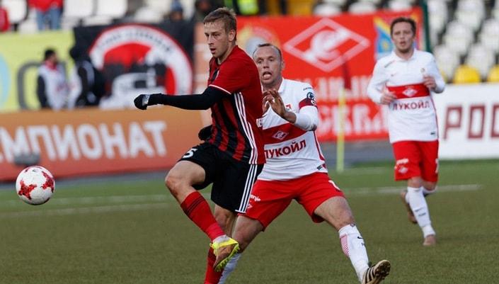 «Амкар» продемонстрировал заснеженное поле перед матчем со«Спартаком»