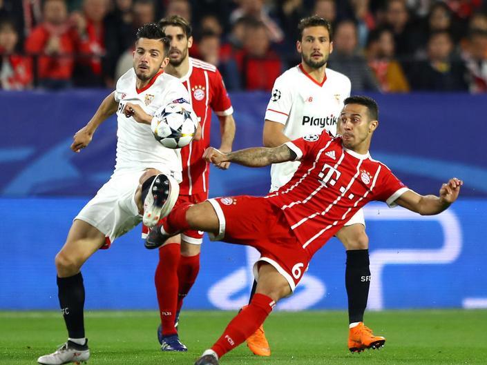 «Бавария» сыграла вничью с«Севильей» ивышла вполуфинал футбольной Лиги чемпионов