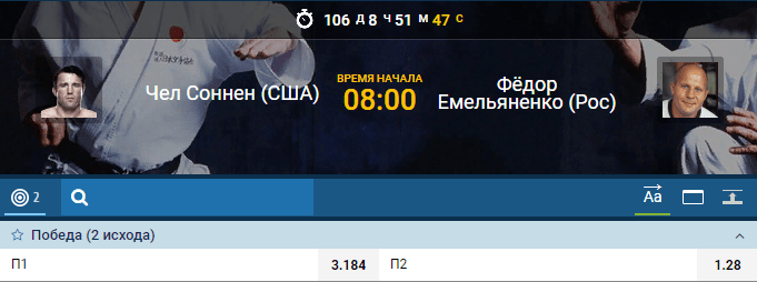 Прогноз на бой Фёдор Емельяненко – Чейл Соннен