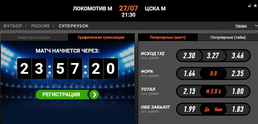 Локомотив– ЦСКА. Прогноз Суперкубка России