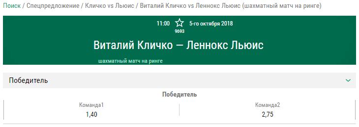 Виталий Кличко сможет взять реванш у Леннокса Льюиса спустя 15 лет