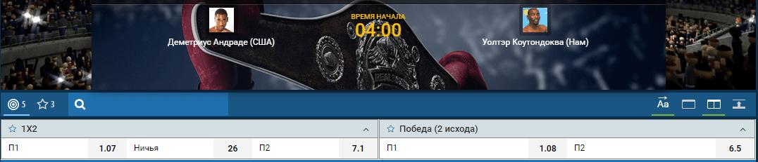 Прогноз на бой Деметриус Андраде – Уолтер Каутондоква