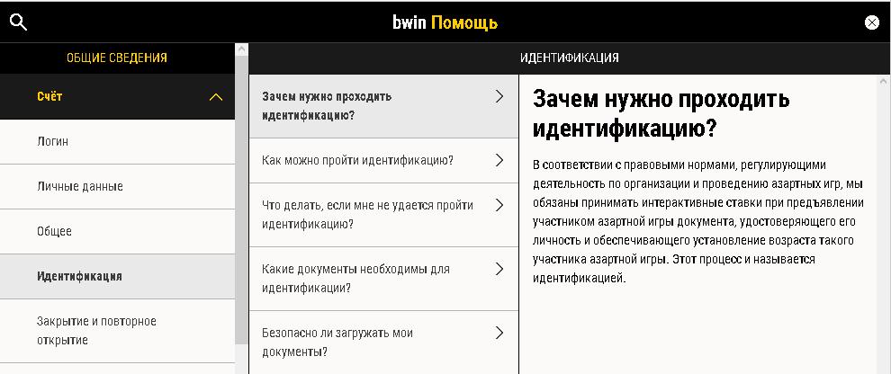 Как пройти идентификацию в БК bwin?