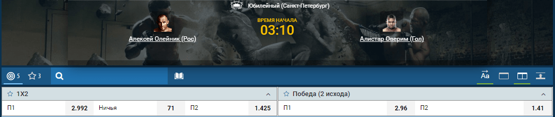 Прогноз на бой Алексей Олейник – Алистар Оверим