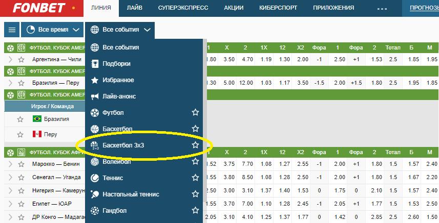 Стритбольная лига BIG3 в линии БК Фонбет