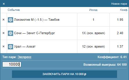 Выгодно ли ставить на Чемпионат России в Фонбет?
