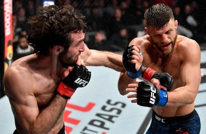Итоги турнира UFC Fight Night 163: Магомедшарипов – Каттар