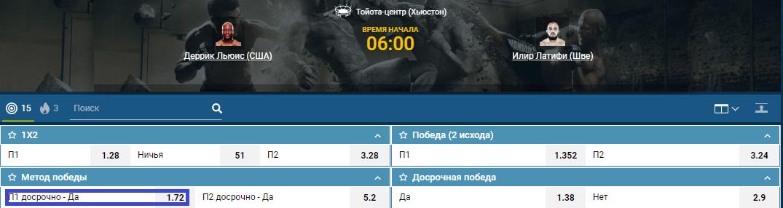 Прогноз на бой Деррик Льюис – Илир Латифи