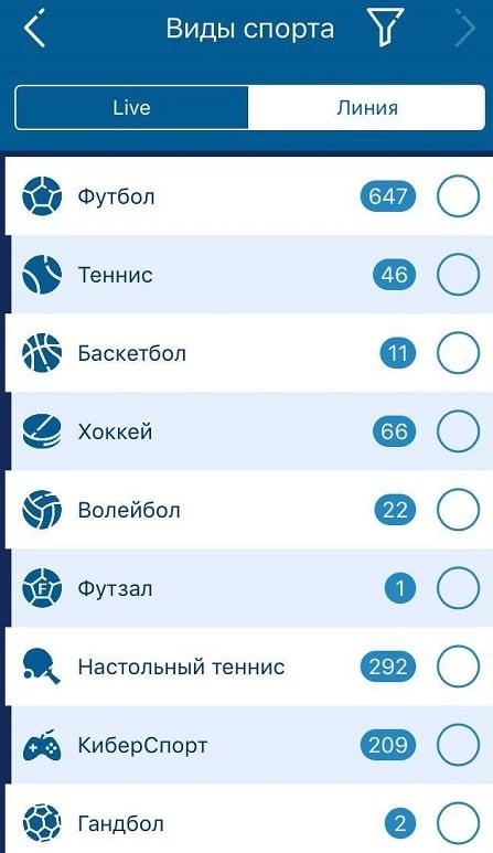 Обзор приложения 1хСтавка для iOS