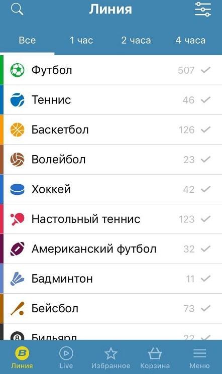 БК Бетсити – приложение на айфон (iOS)