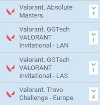 Особенности ставок на Valorant