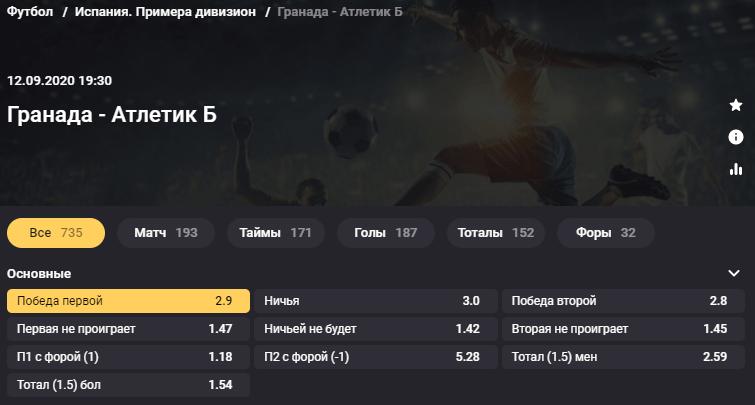 Гранада - Атлетик. Кто выиграет стартовый матч Примеры 2020/21?