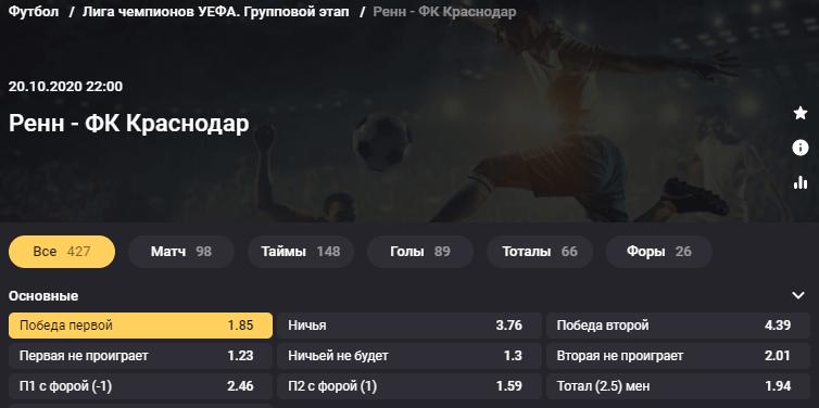 Ренн - Краснодар. Смогут ли «быки» взять очки в дебютном матче Лиги чемпионов?