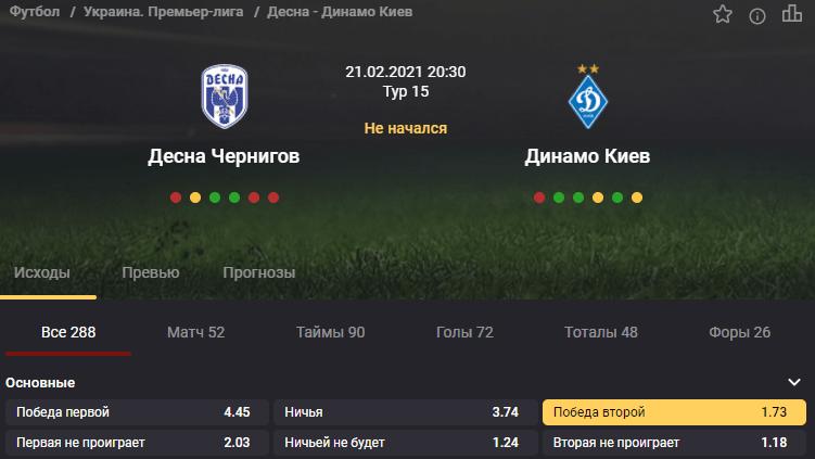 Десна - Динамо. Сумеет ли команда из Чернигова не проиграть киевскому гранду?