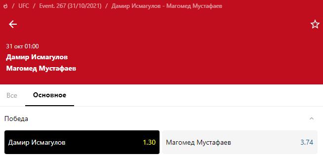 Прогноз на бой Дамир Исмагулов – Магомед Мустафаев